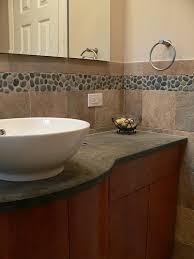 Pebble Tile Backsplash - Pebble backsplash