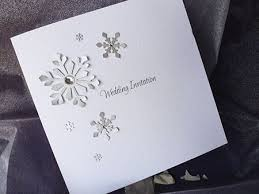 snowflake wedding invitations handmade snowflake wedding invitations