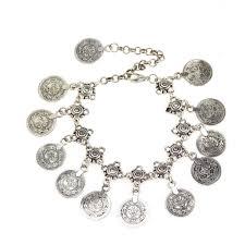 bracelet luxury charms images Women 39 s bohemian silver tassel ankle bracelet fox shopper jpg