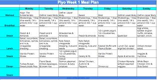 Beast Meal Plan Spreadsheet Piyo Is Officially Here Piyo Meal Plan And Prep Melanie Mitro