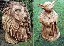 amazing wood sculptures created by chainsaw design swan