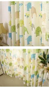 new cartoon kids linen window curtains for living room cortina