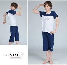summer cool children clothing set kids thin pajamas boys