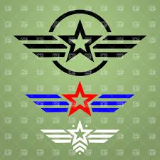 jeep army star template of military style emblem with star and wings download