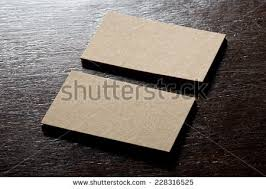 thick white cotton paper business card stock photo 308022521