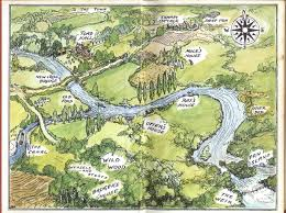 Classic Maps E H Shepard U0027s Famous Map Of The Wild Wood From Kenneth Grahame U0027s