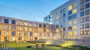 ink block apartments live ink block style in boston s hottest ink block lawn at night