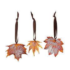 real maple leaf ornaments set of 3 beautiful real maple leaf