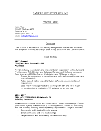 sample resume for architecture student resume for your job