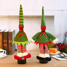 Christmas Tree Wine Bottles Cute Fashion Cloth Christmas Wine Bottle Bag Covers Xmas