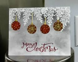 merry christmas bulbs by jandjccc cards and paper crafts at