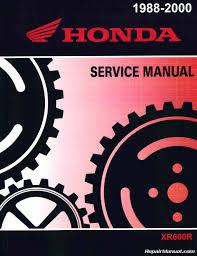 1988 2000 honda xr600r motorcycle service manual