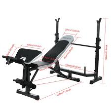 amazon com ancheer adjustable olympic weight bench with preacher