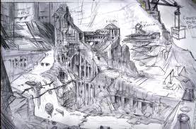 markarth layout rough sketch video games artwork