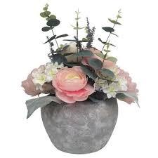 flower arrangement peony flower arrangement in pot dunelm