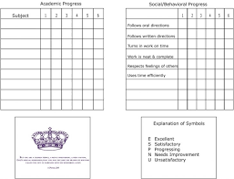 academic progress report template homeschool progress report printable best and professional templates