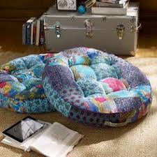 sari pattern zafu meditation cushion yoga meditation bohemian sari patchwork pouf floor pillow floor