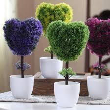 Flowers For Home Decor 2017 Hyson Shop Decorative Flower Pot Planters Heart Shape Plants