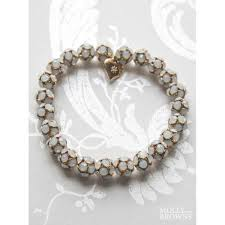 white opal crystal gold u0026 white opal crystal bracelet jewellery by molly browns
