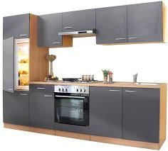 komplett küche küchenzeile 270 cm buche grau einbauküche küche komplett küche