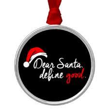 bad santa ornaments keepsake ornaments zazzle