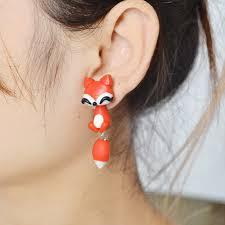 creative earrings creative new 100 handmade polymer clay cat fox lovely