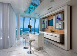 home bar interior pfuner design oceanfront penthouse contemporary home bar