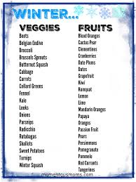 here is a free printable of the best seasonal fruits and