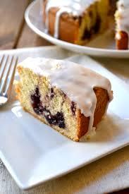 lemon pound cake w blueberry swirl little bits of