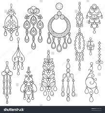 chandelier earring chandelier earring silhouette stock vector 43701532