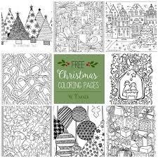 25 unique printable christmas coloring pages ideas