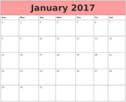 january 2017 calendar template calendar template 2017