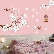 cherry blossom home decor stencil kids walls beautifully and safe baby design ideas nursery