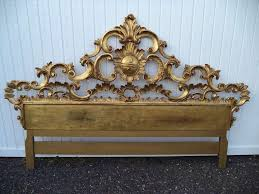 Fleur De Lis Headboard Carved Italian Gold Gilt King Headboard At 1stdibs