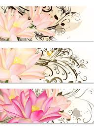 business cards set with lotus flowers and swirl ornament royalty