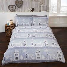 Flannelette Single Duvet Cover Scandi 100 Brushed Cotton Soft Warm Cosy Winter Bedding Duvet