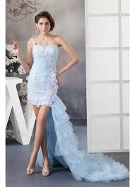 Blue Wedding Dress Shoulder Appliques Tulle Blue Wedding Dress