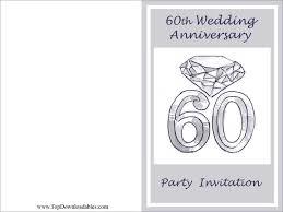 60th anniversary invitations free printables 60th wedding anniversary wording