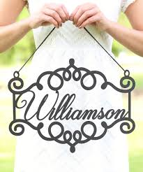 morgann hill designs unfinished personalized last name newlywed