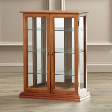 Curio Cabinets With Glass Doors Wall Curio Cabinet Glass Doors