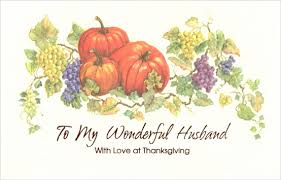 pumpkin grapes thanksgiving card by freedom greetings