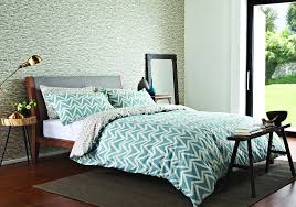 dhurri double duvet set aqua blue duvet cover by scion