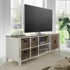 Chippendale Wohnzimmer Schrank Shabby Chic Tv Lowboard In Weiß Tanne Massivholz Jetzt Bestellen
