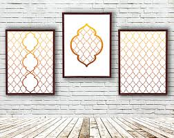 Moroccan Pattern Art Moroccan Wall by Modern Living Room Wall Art Geometric Pictures Moroccan Three