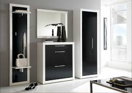 designer schuhschrank designer garderoben set collin in schwarz weiß hochglanz 4 teilig
