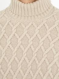 inis meáin trellis cable knit wool sweater in natural for men lyst
