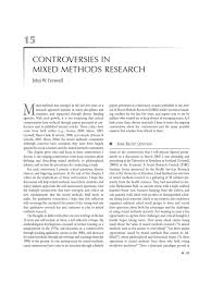 contraversies in mixed method research qualitative research