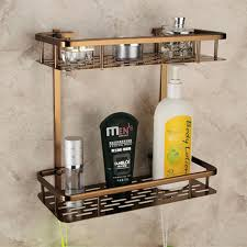 Bronze Bathroom Shelves Europe Antique Bathroom Shelves Layer Towel Rack Space