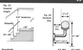 Interior Handrail Height Stairway Handrail Standards K U0026 S Inspections