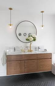 bathroom round wall mirror with pendant lighting also hemnes